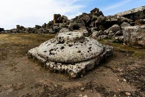 ruiner vid Selinunte i Sicilien, Italien foto