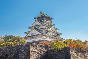 Osaka slott i Osaka, kansai, japan foto