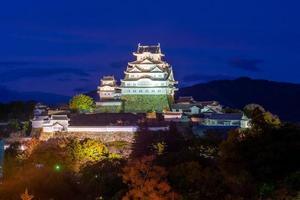 himeji slott aka vit ägretthäger slott i hyogo, japan foto