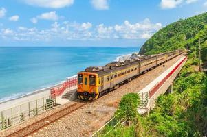 landskap av duoliang station i Taitung, Taiwan foto
