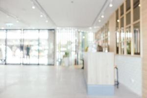 abstrakt oskärpa och defokuserad hotelllooby och lounge foto
