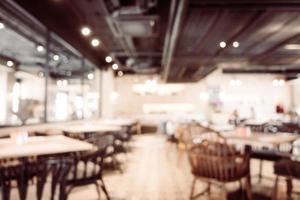 abstrakt oskärpa och defokuserat kafé och restauranginredning foto