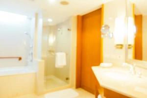 abstrakt oskärpa och defokuserad toalett och badrum foto