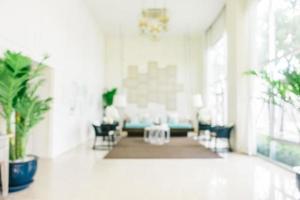 abstrakt oskärpa och defokuserat vardagsrumsinredning och dekoration foto