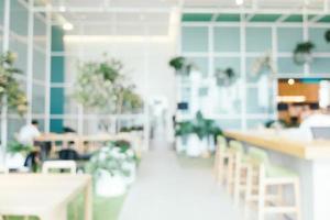 abstrakt oskärpa och defokuserat kafé och restauranginredning för bakgrund foto