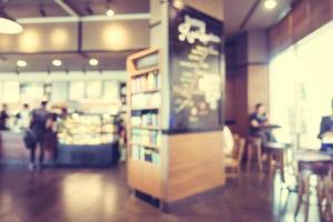 abstrakt oskärpa och defokuserad kafé foto