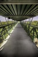 gångbro i naturen foto
