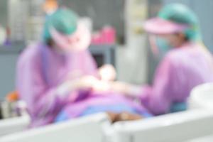 tandläkare och tandassistenter på sjukhus foto