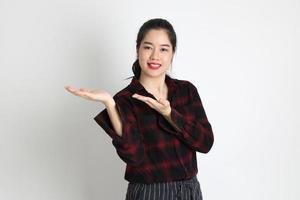 kvinna i studio foto