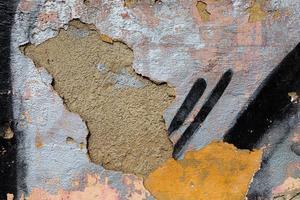 konsistens av gammal smutsig betongvägg foto