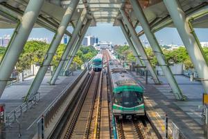mass snabbt transiteringssystem i Kaohsiung, Taiwan foto