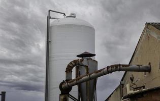 industriellt skorstensrökutlopp foto
