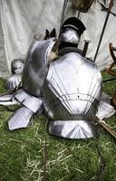 medeltida pansarhjälm foto