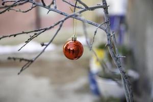bollar på julgranen foto