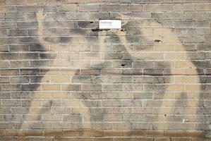 silhuetter på väggen foto