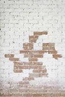 dekorativ tegelvägg foto