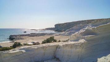 kalkstenar på delikli koy beach foto