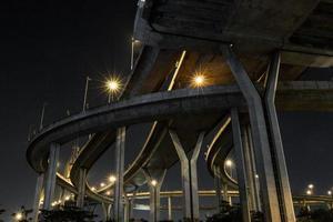 bro av nattljus foto