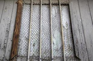 rostig metallfönstergrill foto
