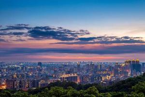 Flygfoto över Taoyuan City, Taiwan foto