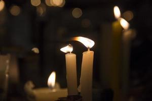 brinnande ljus i norra utseende foto
