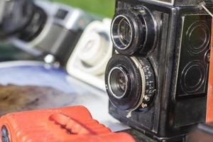 gamla fotokameror foto