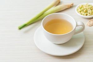 varm citrongräs juice kopp foto