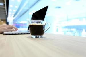 tid för kaffe foto