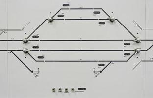 instrumentbrädans tågsignal foto