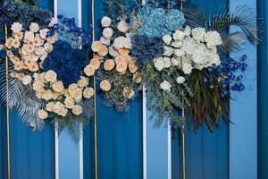bröllop blomma bakgrund, färgglad bakgrund, färsk ros, blomma foto