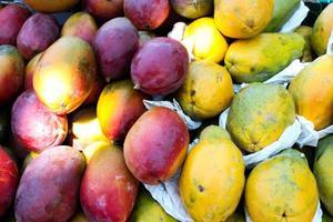 mangofrukt och gul papaya foto