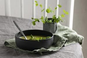sammansättningen hälsosam måltidsbord foto