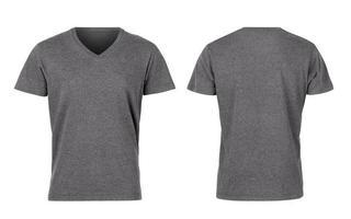 grå kvinna t-shirt isolerad på vit bakgrund med urklippsbana foto