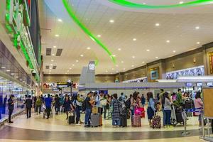 passagerare på Bangkok Suvarnabhumi flygplats, Thailand, 2018 foto