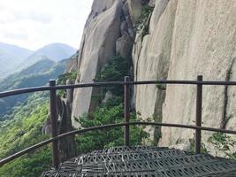 utsikt från den höga bergstoppen i Seoraksan National Park, Sydkorea foto
