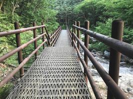 den lilla järnbron i Seoraksan nationalpark. Sydkorea foto