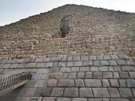 den stora pyramiden i giza, nedifrån Egypten foto