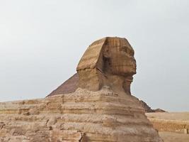 utsikten över sphinks i Giza, Egypten foto