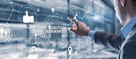 kvalitetssäkring iso din service garanterar standardhandelskoncept foto