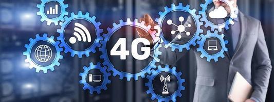 4g höghastighets internetanslutning telekommunikation koncept foto