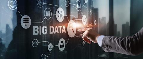 big data och business intelligence analytics koncept foto