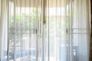 vita gardiner på morgonen foto
