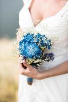 bröllop brudbukett foto