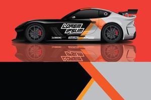 sport bil dekal wrap design vektor foto