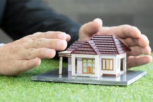 hemförsäkring koncept foto