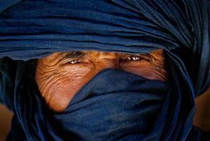 tamanrasset, algeriet 2010 - porträtt av okänd touareg i tassili n'ajjeröknen foto