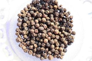 hälsosam och kryddig svartpeppar lager foto