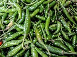 hälsosam och kryddig och varm grön chili lager foto