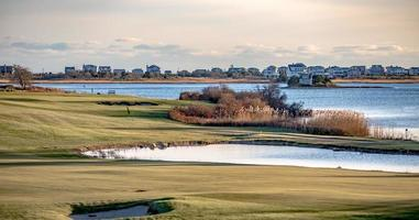 weekapaug golfklubblandskap på Rhode Island foto