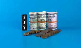 skattesänkning minska betalningskonceptet foto